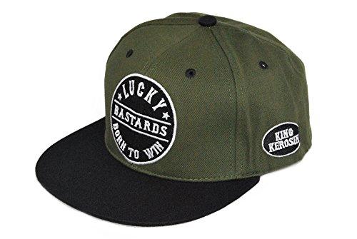 KING KEROSIN Fuck the World Snapback Cap mit Stickerei Unisex (Oil Cap Harley)