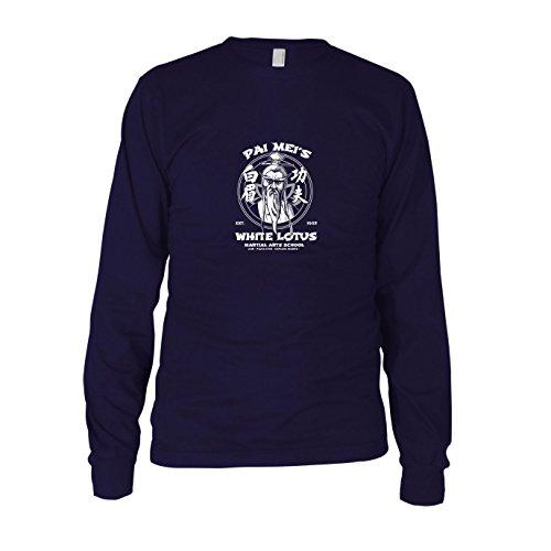 Kostüm Kill Bill Trainingsanzug - Pai Mei's School - Herren Langarm T-Shirt, Größe: L, dunkelblau