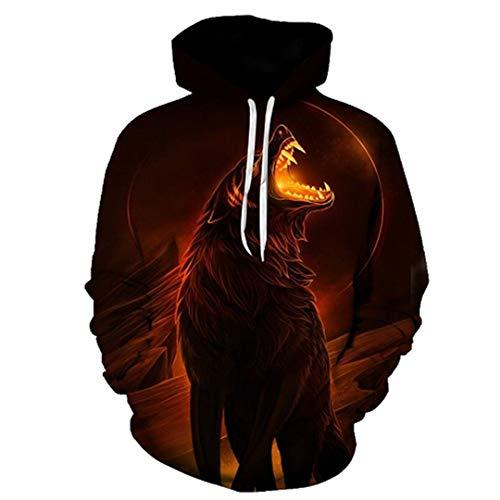 LLPOKM Wolf Hoodies Pullover Trainingsanzüge Streatwear Hoody 3D Herren Kleidung Herbst Sweatshirts Pullover Mantel Drop Ship LMWY-387 XXXL