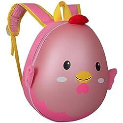 AMUSTER Sac à dos de coquille d'oeuf petit dessin animé mignon pour enfants de bande dessinée garçons et filles 1-3 ans bébé sac à dos de toile sac à dos (C)