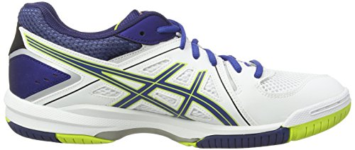 Asics Gel-task, Chaussures de Volleyball Homme Blanc (white/blue/lime 0142)