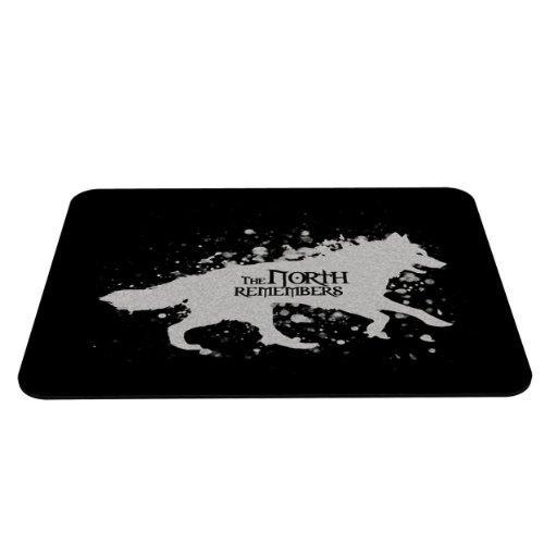 Preisvergleich Produktbild Stylotex Mauspad The North Remembers - Wolf in Snow - mit textiler Oberfläche