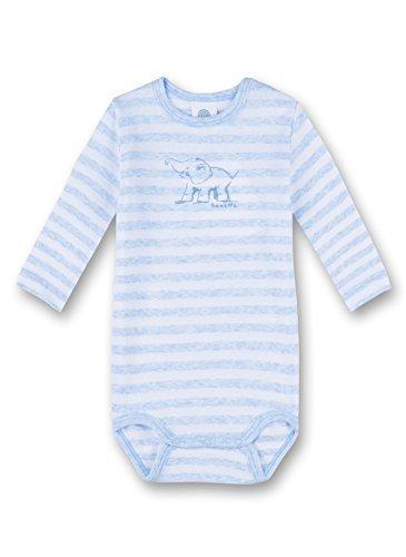 Sanetta Baby-Jungen Body 322454, Blau (Bleu Melange 50240), 86