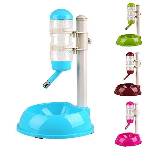 efanr Kunststoff Pet-Wasser Gerät Wasserkocher verstellbar rutschfeste Futternapf Wasser Spender Becken Automatischer Futternapf für Hund Katze Puppy Kitty (Spielen Halter Matte)