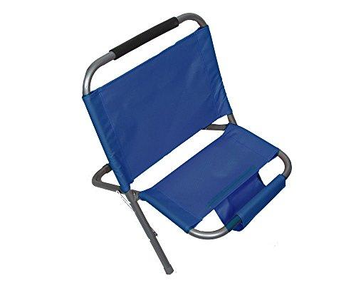 Fair sedia mare spiaggina pieghevole portatile comoda con portaoggetti 56x52x48 cm shoponline (blu)