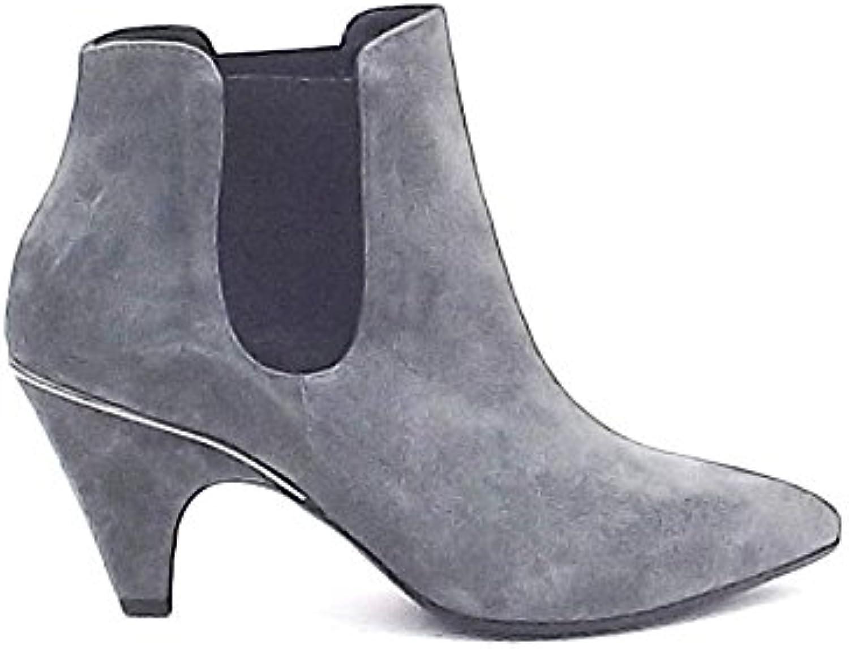 Vic scarpe donna tronchetto beatles in camoscio Coloreeee grigio tacco alto | Il Nuovo Arrivo  | Uomini/Donne Scarpa