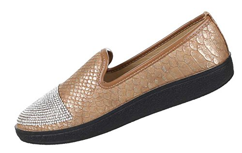Damen Schuhe Ballarinas Slipper Halbschuhe Super Bequeme Freizeitschuhe Gold