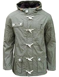 Soul Star Togpad Men's Casual Lightweight Hooded Parka Jacket Coat Mac khaki sand