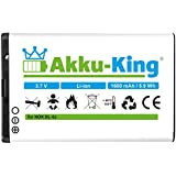 King 20108011Lithium-Ion 1600mAh 3,7V wiederaufladbar Akku–wiederaufladbar Batterien (Lithium-Ionen (Li-Ion), 1600mAh, Navigator/Handheld Mobile Computer/Mobile Telefon, 3,7V, 5,92Wh, weiß)