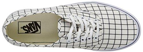 Vans Unisex-Erwachsene Authentic Sneaker Weiß (grid/true White)