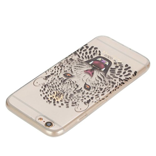 JAWSEU Coque pour iPhone 6 Plus/6S Plus 5.5,iPhone 6 Plus Coque en Silicone Ultra Mince,iPhone 6S Plus Soft Transparent Protective Case Cover Flexible Souple Housse Etui de Protection Coque TPU en Mar tigre