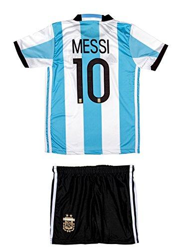 Argentinien Fußball Trikot (ATB Argentinien #10 Messi 2016/17 Heim Kinder Trikot und Hose)