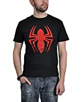 Spider-Man Red Logo T-Shirt schwarz