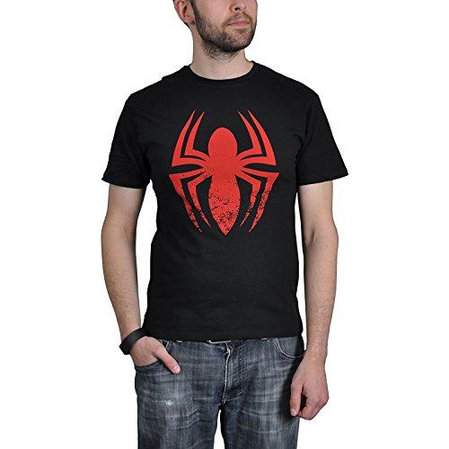 Spiderman T-Shirt Red Logo (Man Kostüme Amazing Erwachsene Spider)