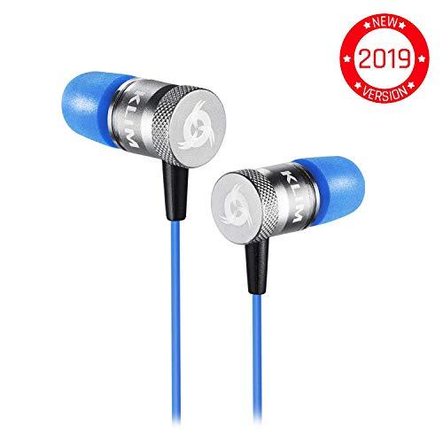 KLIM Fusion Audio Kopfhörer - Langlebig + 5 Jahre Garantie - Innovativ: In-Ear-Kopfhörer mit Memory Foam [ Neue 2019 Version ] Blau
