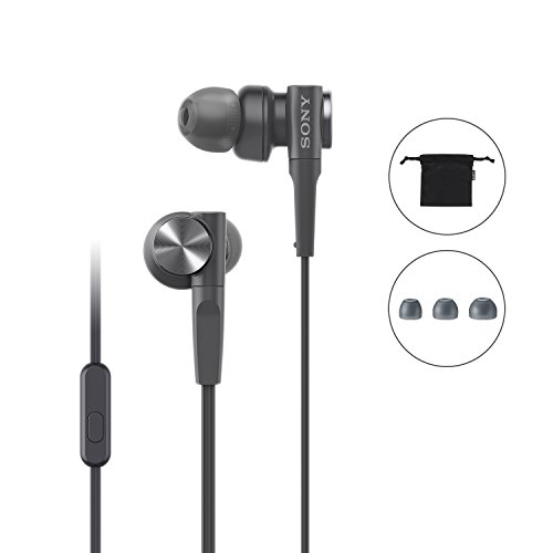 Sony MDR-XB55AP Extra Bass in-Ear Headphone with Mic (Black) Image 6