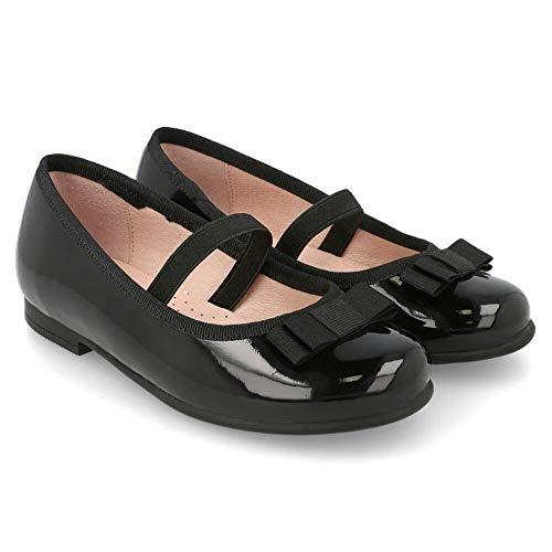 Garvalin Girl 191610C - Zapatos de Ballet de Piel auténtica, Color Negro, Color Negro, Talla 28 EU