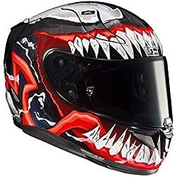HJC RPHA-11 PRO Venom 2 Unisexe Adulte (Noir/Rouge/Blanc, XS)