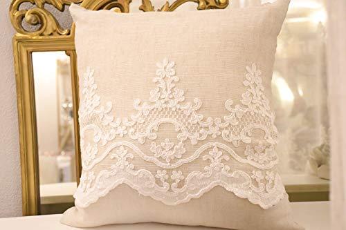 Cuscino lino e ricami collezione