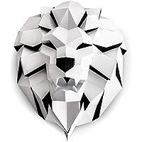 ORIGADREAM Sculpture Papercraft Tête de Lion en Kit 3D à assembler soi-même, Papier cartonné épais 300g PRÉ-COUPÉ