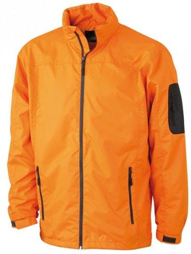 Preisvergleich Produktbild Men's Windbreaker - sportive Outdoorjacke für Herren, Größe:L;Farbe:Orange/Carbon