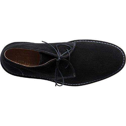 Hommes Loake SAHARA Classique Bottes Désert avec semelle en caoutchouc en noir,navy,marron et daim beige Daim Noir
