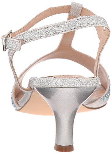 Pleaser - Audrey 05, Sandali Donna Argento (Silver (Slv Shimmering Fabric))