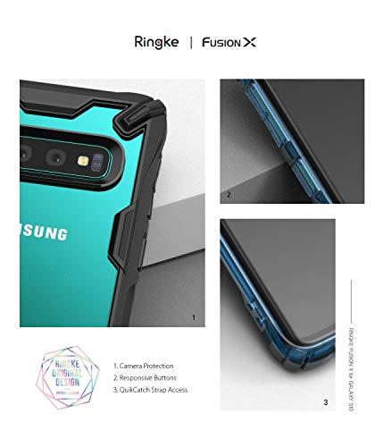 """Ringke Fusion-X Custodia Compatibile con Galaxy S10 (6.1""""), [Difesa Militare Testata] Protezione per Paraurti Posteriore TPU Resistente agli Urti Ammortizzante Cover Galaxy S10 (2019) - Royal Purple"""