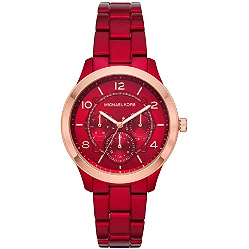 Michael Kors Multifunction Runway Red Stainless Steel Ladies' Watch MK6594