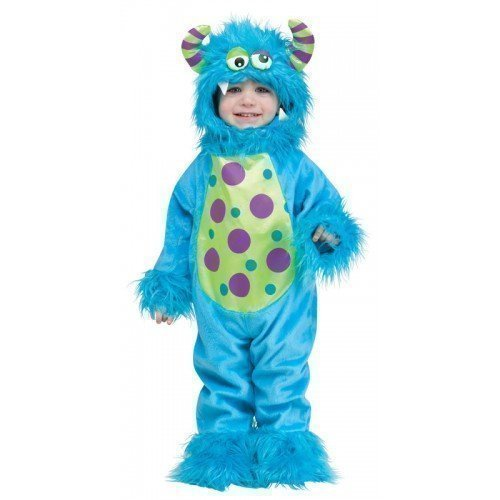hen Jungen blau oder lila Halloween Monster Verkleidung Kostüm Kleidung 12-24 Monate - Blau, 12-24 Months (Blaues Monster Kostüm, Kleinkind,)