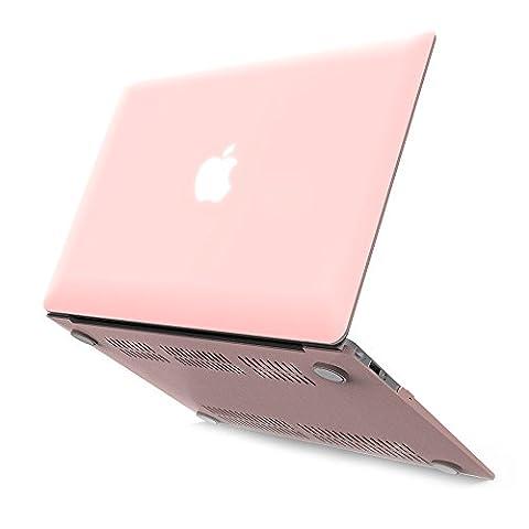 Ibenzer Coque rigide en plastique toucher doux pour toutes les tailles de MacBook/MacBook Air 13,3pouces/Air 11pouces/MacBook Pro 13pouces/MacBook Retina 13pouces/Retina 15pouces/Retina 12pouces