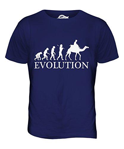 CandyMix Kamelrennen Kamelreiten Evolution Des Menschen Herren T Shirt Navy Blau