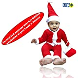 UNIq Baby Christmas Party Santa Costume Suit Outfits Set Kids 1 To 2 Years Old Boys Girls Xmas Santa My First Christmas Clothes. For Second Best Occasion After First Birthday Party Of Your Prince & Princess. (1 Year - 2 Years)