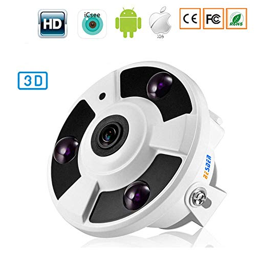 HL 1080P Fisheye Weitwinkel 360 ° IP Kamera, elektronische PTZ 180 Panorama Onvif Email Alarm IR-Cut P2P Überwachungskamera,720P - Weitwinkel Outdoor-ptz-ip-kamera