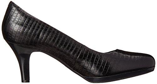 Clarks Artisan appel Temp Pompe de plate-forme Black Snake Leather
