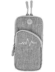 XYQY 4-6 Pulgadas Banda para el Brazo del teléfono móvil Universal Deporte al Aire Libre Brazalete Deportivo En Funcionamiento Brazalete de la Bolsa Estuche Funda Cubierta BrazaleteGris