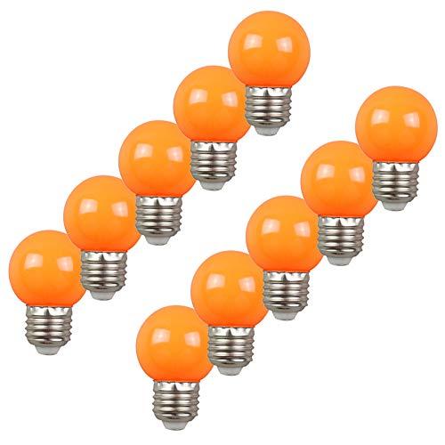 10per-pack Farbige Leuchtmittel LED 2W E27 G45 Birne Beleuchtung Glühbirne Leuchtmittel für Partybeleu chtung Biergartenbeleu chtung (Orange) (Kommerzielle Led-weihnachtsbeleuchtung)