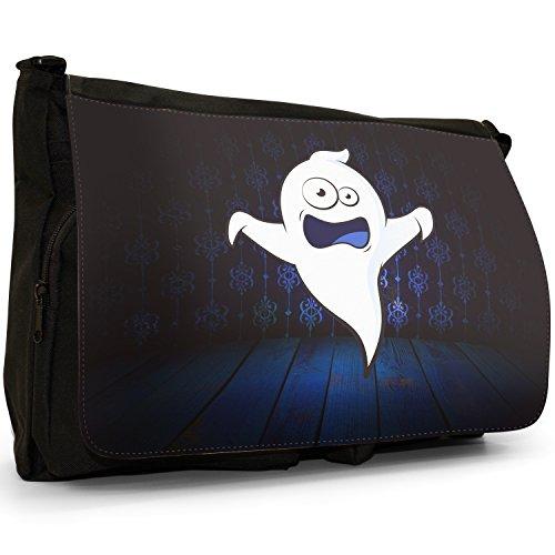 I mostri–Borsa Tracolla Tela Nera Grande Scuola/Borsa Per Laptop The Monsters - Ghost