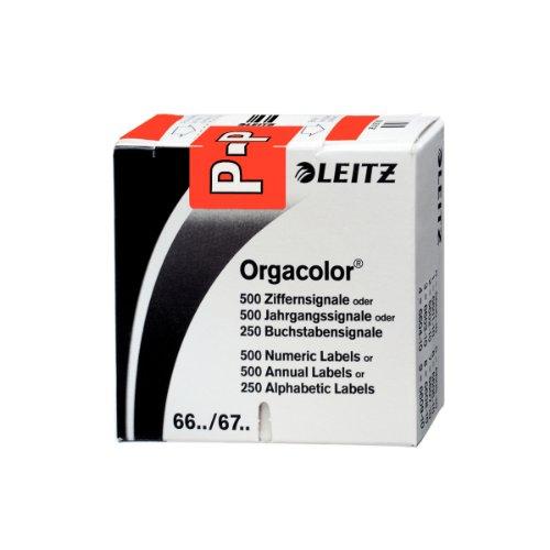 Leitz Orgacolor Rectángulo redondeado Rojo - Etiqueta autoadhesiva (Rojo, Rectángulo redondeado, 30 x 23 mm, 73 x 73 x 30 mm, 60 g)