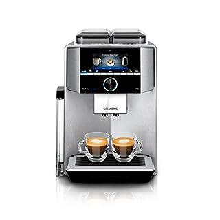 Siemens TI9575X1DE EQ.9 s700 plus connect Kaffeevollautomat (1500 Watt, vollautomatische Dampfreinigung, Baristamodus, Home Connect, sehr leise, iAroma) edelstahl