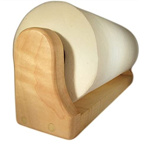Maple Paper Towel Holder (Mounted) by American Family Woodworking