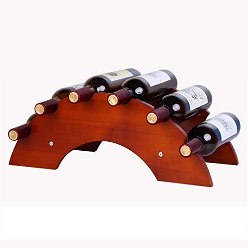 Wghz Weinflaschenhalter Holz Tabletop Weinregal für Wohnkultur Großes Geschenk Einzigartige Brücke Design (Größe; 51 * 24 * 20 cm) (Farbe: # 1) (Tabletop-brücke)