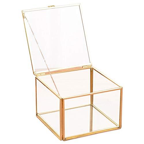 Preisvergleich Produktbild XZANTE Platz ffnung Glas Geometrie Garten Schmuck Schatulle Spiegel Schmuck Aufbewahrungs Box Ewige Blume Dekoration Box Handwerk
