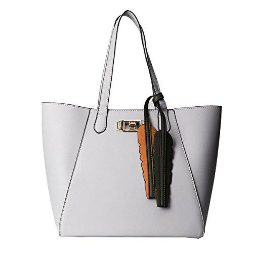 Yy.f Neue Handtasche PU Tasche Handtasche Diagonal Mit Hohen Kapazität Einfarbige Großer Umhängetasche 3 Farben Black