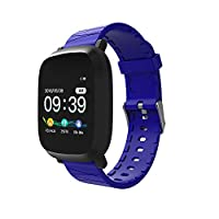 Diadia Fitness Watch Activity Tracker Heart Rate Monitor Wrist Waterproof Bluetooth Smart Watch for Kids Women Men iOS/Android (Blue)