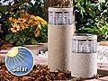 """Lunartec Mini-Solar-LED-Gartenleuchte """"Grey Stone"""", 19 cm hoch von Lunartec bei Lampenhans.de"""