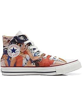 Converse All Star Customized - zapatos personalizados (Producto Artesano) Japan Cartoon - TG40