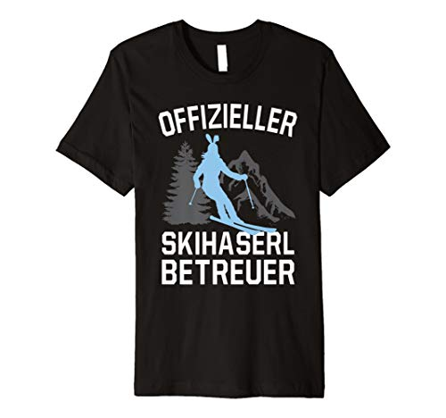 Herren Lustiges Skifahrer Apres Ski Skihasen Betreuer T-Shirt