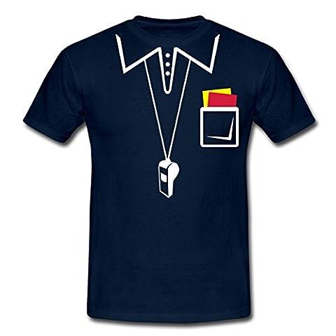 Schiedsrichter Männer T-Shirt von Spreadshirt®, M, Navy (Schiedsrichter T-shirts Kostüm)