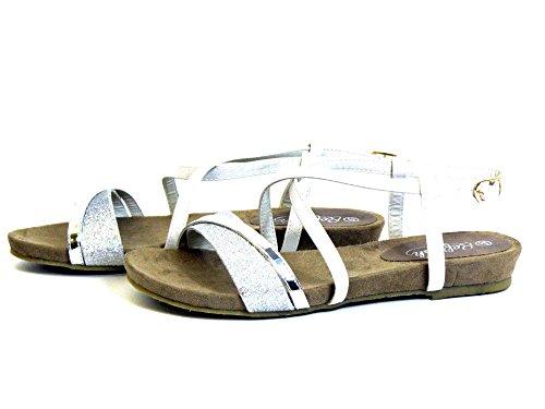 Refresh Donna Sandali bianco, (silber) 62015 PLATA silber